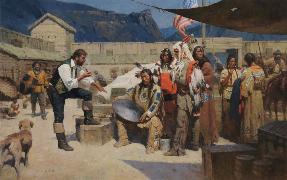 Rejecting the Metal Shield, Fort Mackkenzie 1835 painter by ZS Liang
